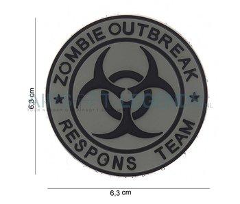 JTG Zombie Outbreak Rubber Patch Grey