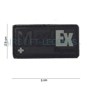 JTG JTG MedEx Rubber Patch Black