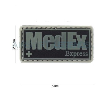 JTG MedEx Rubber Patch Black/Grey