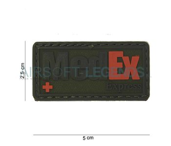 JTG MedEx Rubber Patch Black/Red