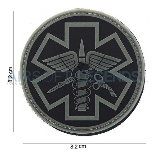 101Inc. 101Inc. Para Medic Rubber Patch Black/Grey