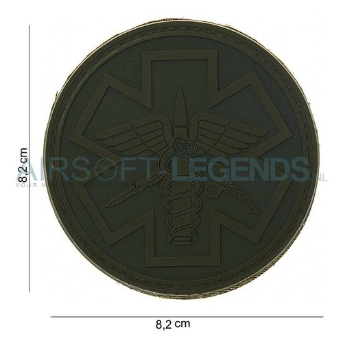 101Inc. 101Inc. Para Medic Rubber Patch Green