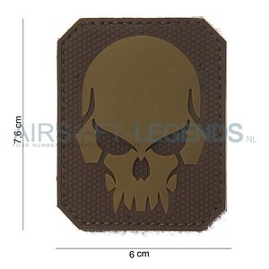 101Inc. 101Inc. Evil Skull Rubber Patch Tan