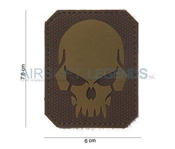 101Inc. Evil Skull Rubber Patch Tan