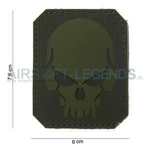 101Inc. 101Inc. Evil Skull Rubber Patch Green