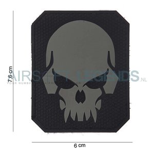 101Inc. 101Inc. Evil Skull Rubber Patch Black