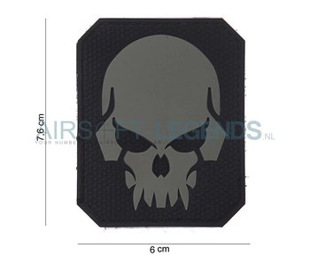 101Inc. Evil Skull Rubber Patch Black