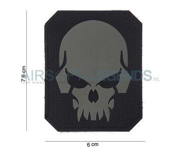 Evil Skull Rubber Patch Black