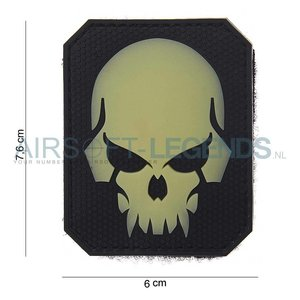 101Inc. 101Inc. Evil Skull Patch Glow in the dark
