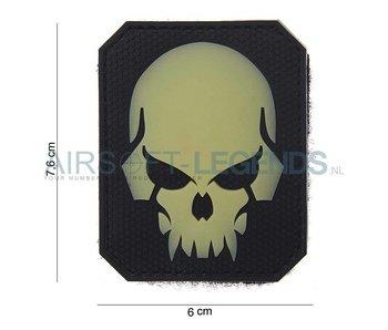 101Inc. Evil Skull Patch Glow in the dark