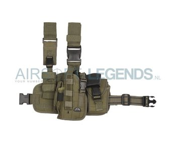 101Inc Molle Leg Holster left (Several camo's)