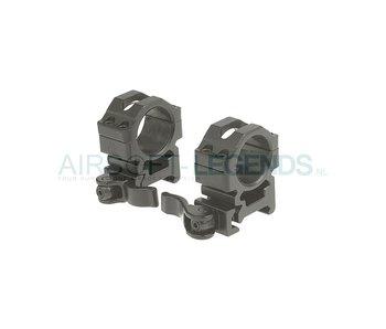 Leapers QD 25.4mm CNC Mount Rings Medium