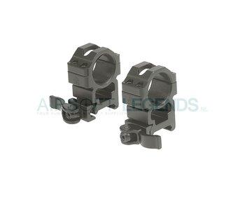 Leapers QD 25.4mm CNC Mount Rings High