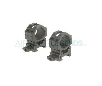 Leapers CNC - Medium Mount Rings 25.4mm