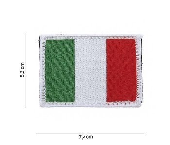 101Inc. Italian Flag Patch with Velcro