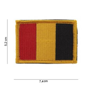 101Inc. 101Inc Belgium Flag Patch with Velcro