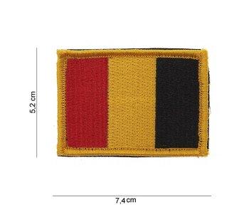 101Inc Belgische Vlag Patch met Velcro
