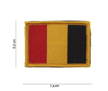 101Inc Belgium Flag Patch with Velcro