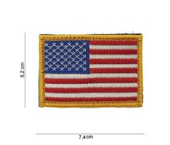 101Inc US Flag yellow | Stof met klitteband