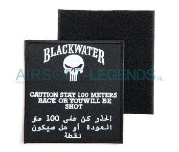 101Inc Blackwater Patch 100mtr warning