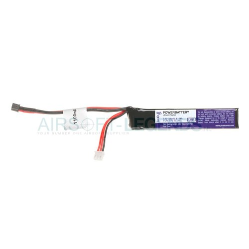 Pirate Arms Pirate Arms LiPo 7.4V 1100mAh 15C Stock Tube type Mini T-Plug