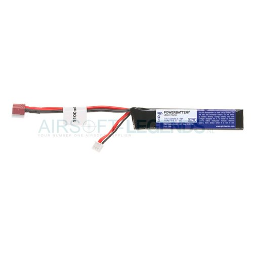 Pirate Arms Pirate Arms LiPo 7.4V 1100mAh 15C Stock Tube type T-Plug