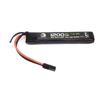 Nuprol LiPo 7.4V 1200Mah 20C Stick type