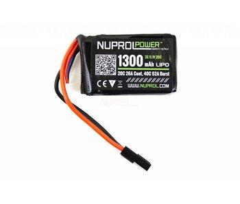 Nuprol LiPo 11.1V 1300Mah 20C PEQ15 Micro type