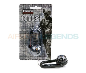 Fosco Carabiner with compass + thermometer