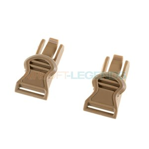 FMA FMA Goggle Swivel Clips 19mm Dark Earth