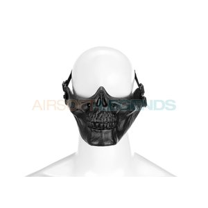 Invader Gear Invader Gear Skull Half Face Mask Black