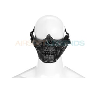 Invader Gear Skull Half Face Mask Black