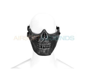 Invader Gear Skull Half Face Mask Metallic