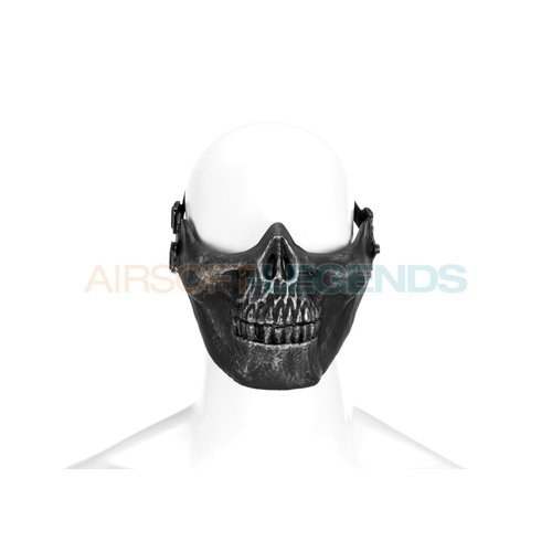 Invader Gear Invader Gear Skull Half Face Mask Metallic