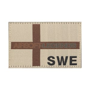 Clawgear Clawgear Sweden Flag Patch Desert