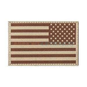 Clawgear Claw Gear USA Reversed Flag Patch Desert