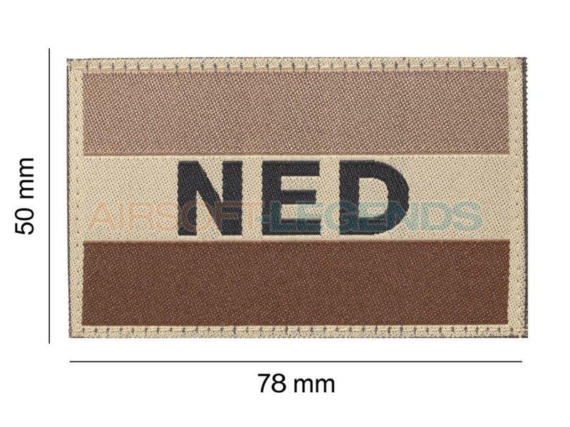 Clawgear Netherlands Flag Patch Desert