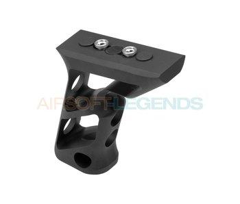 Metal CNC Keymod Long Angled Grip Black