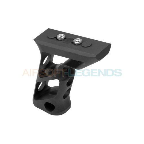 Metal Metal CNC Keymod Long Angled Grip Black