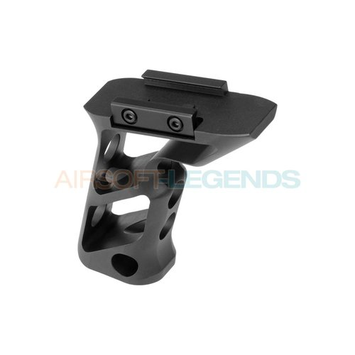 Metal Metal CNC Picatinny Long Angled Grip Black