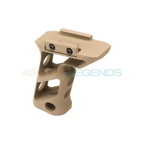 Metal Metal CNC Picatinny Long Angled Grip Dark Earth