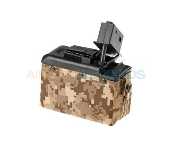 Clasic Army Boxmag M249 1200rds Desert