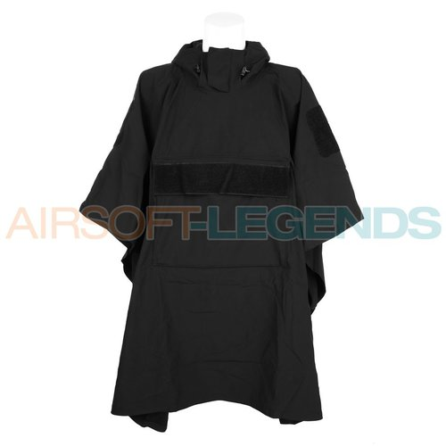 101Inc. 101Inc. Softshell Poncho Black