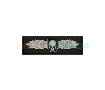 JTG Winged Skull Rubber Patch Black