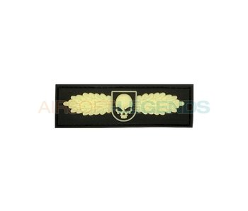 JTG Winged Skull Rubber Patch Glow in the dark