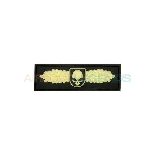JTG JTG Winged Skull Rubber Patch Glow in the dark