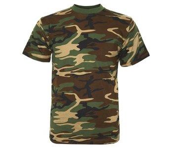 Fosco Woodland Camo T-Shirt