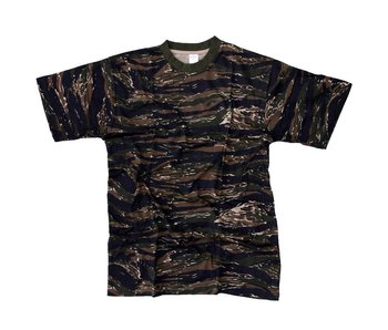 Fosco Tiger Stripe Camo T-Shirt