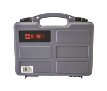 Nuprol Small Pistol Hard Case Grey Pluck Foam