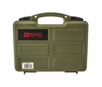 Nuprol Small Pistol Hard Case OD Green Pluck Foam
